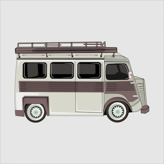 Vector illustration van camper car