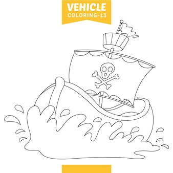 Vector illustration of vehicle coloring page