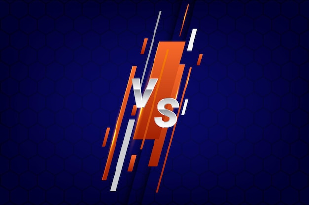 Vector illustration versus screen for fight