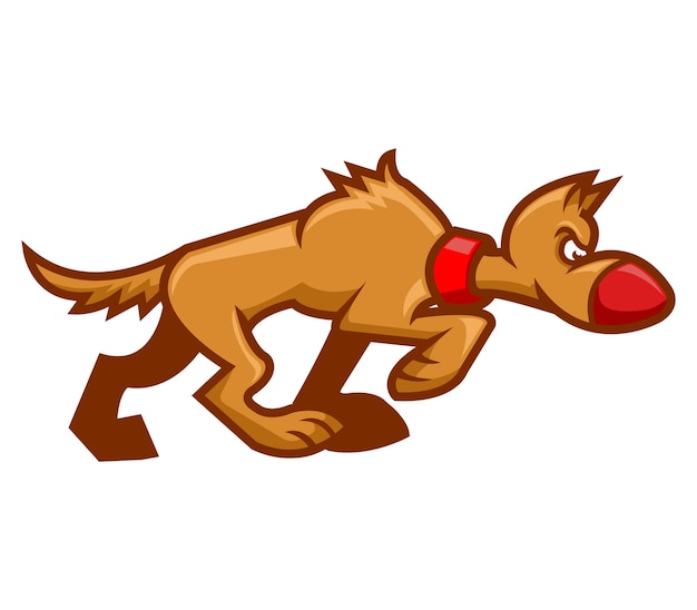 Vector illustration of walking dog