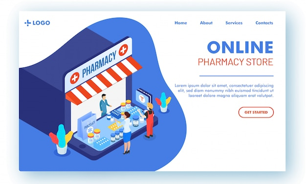 Vector illustration of web page or landing page