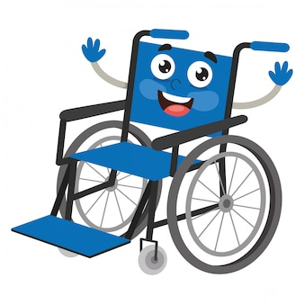 Vector illustration of wheel chair
