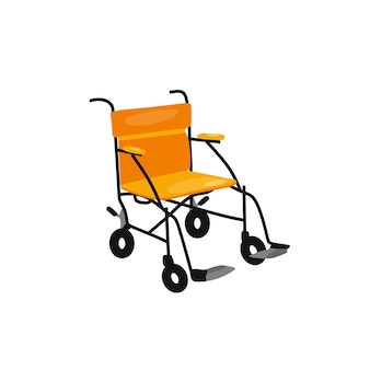 Vector illustration of a wheelchair in cartoon style