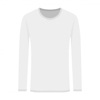Vector illustration of white long-sleeved in flat style
