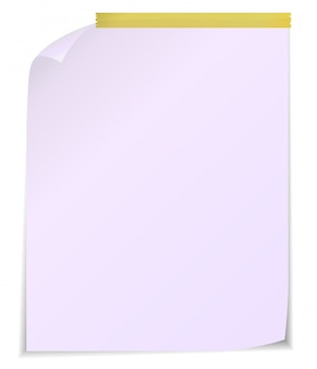 Vector illustration of white post it notes isolated