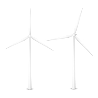Vector illustration of a wind generator. isolated wind turbine