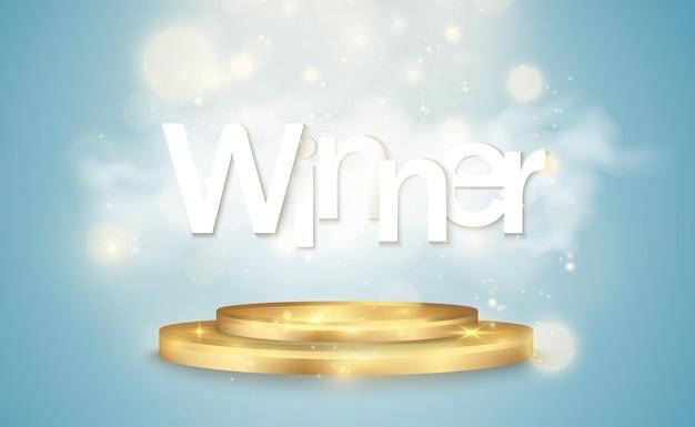 Vector illustration of a winner on a transparent background