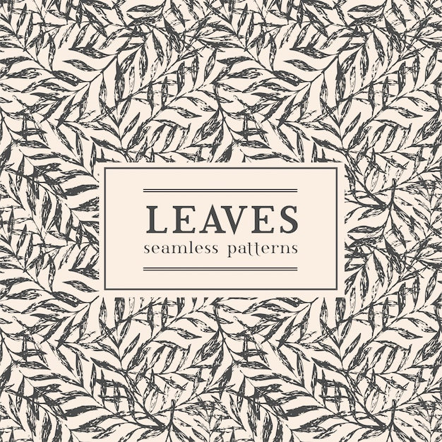 Vector illustration with exotic leaves and space for your text