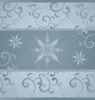 冬、クリスマス、青、灰色