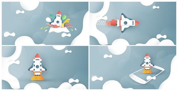 Vector illustration with start up concept.
