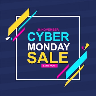 Vector illustration with text for cyber monday. vector illustrations. cyber monday banner