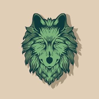 Vector illustration of wolf