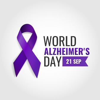 Vector illustration of world alzheimer's day