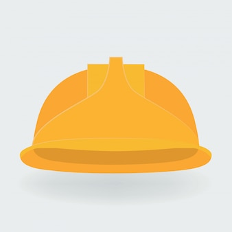 Vector illustration. yellow construction helmet.