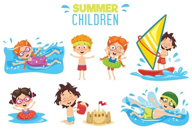 여름 어린이의 벡터 ilustration