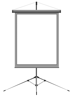 Vector image of a blank presentation