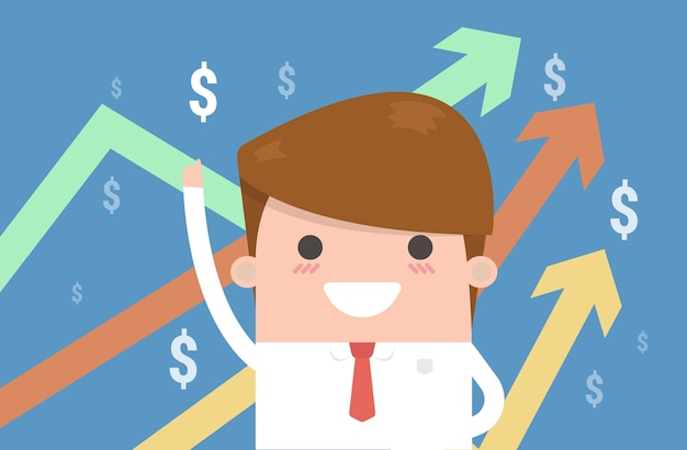 The vector image of a businessman.