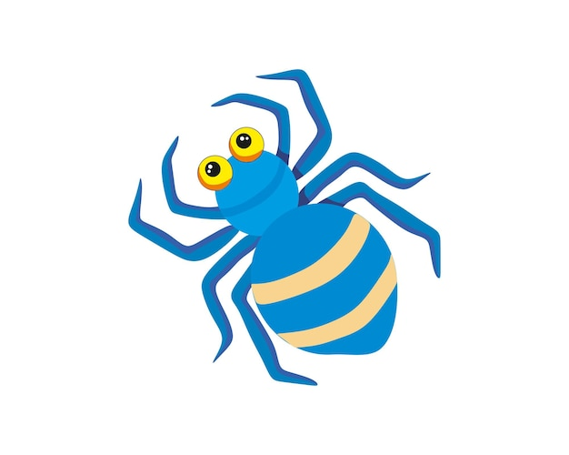 Vector image of a cartoon spider for halloween