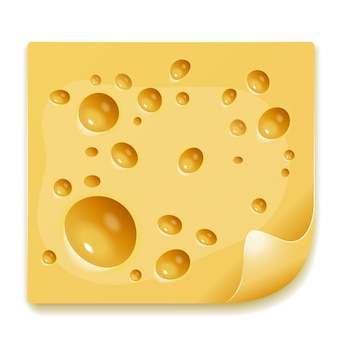 Vector image of a delicious piece of cheese
