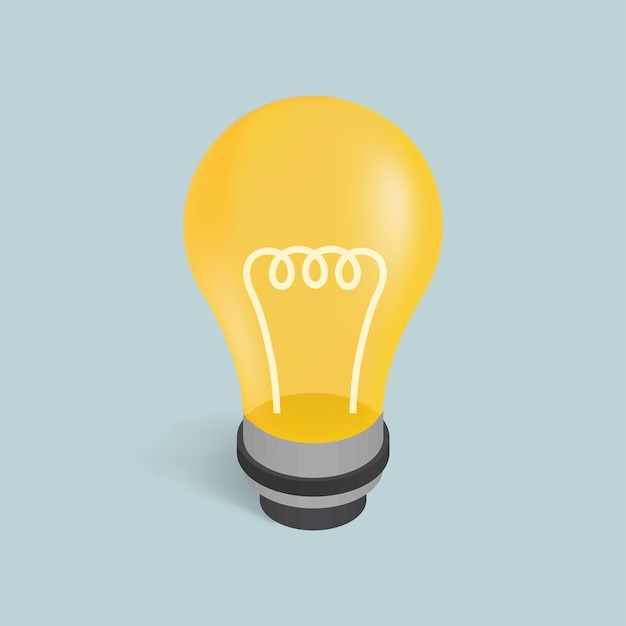 Vector image of a light bulb icon
