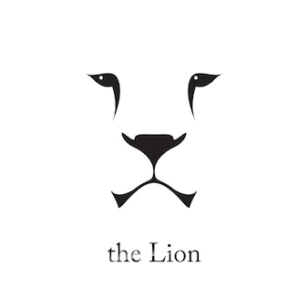 Vector image of lion head.