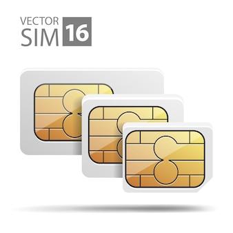 Vector image nano sim micro sim set