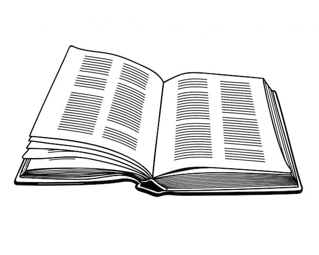 Vector image of an open book