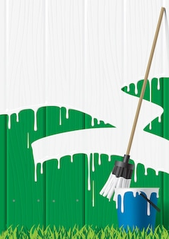 Vector image of painted fence