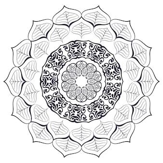 Mandala indiana vettoriale