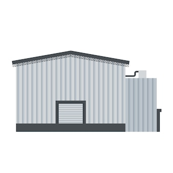 Vector of industrial building for product manufacturing