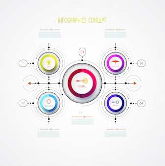 Vector infographic business design template with 3d.