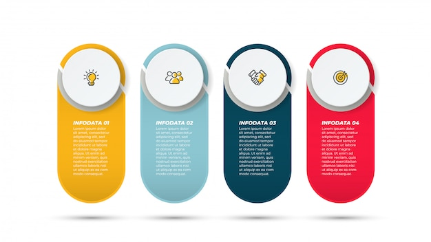 Vector infographic circle label and marketing icons