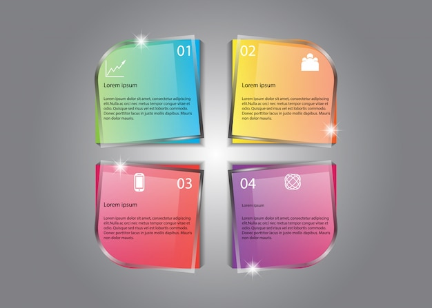 Vector infographic design nice glow colorful information