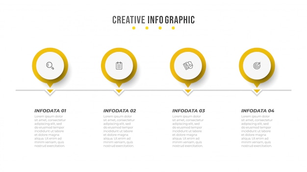 Vector infographic design template with circle and icon.