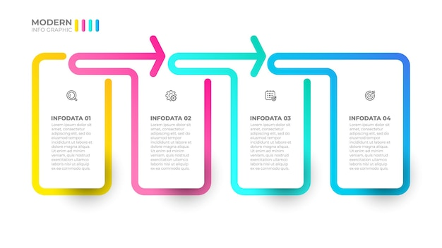 Vector infographic label design template business concept with 4 options steps or processes