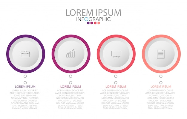 Vector infographic label design template with icons and 4 options or steps