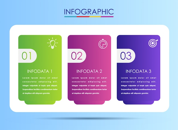 Vector infographic label design template with icons
