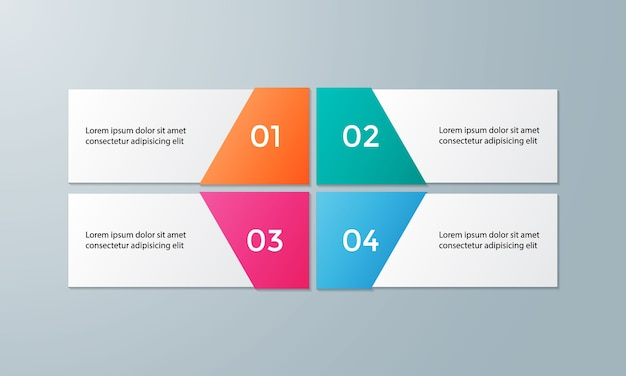 Vector infographic template for diagram
