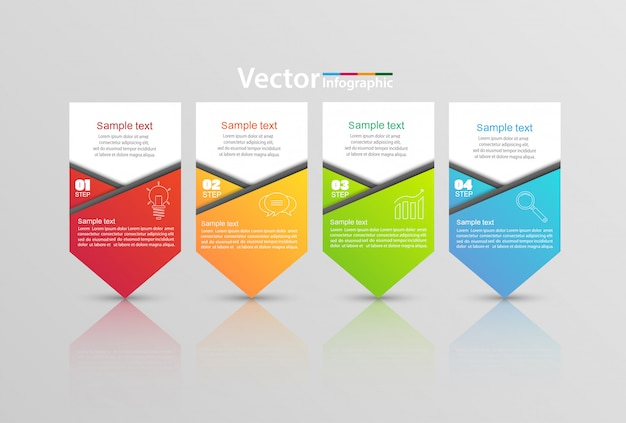 Vector infographic template with 4 options
