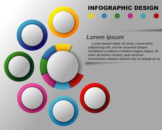 Vector information graphics template.