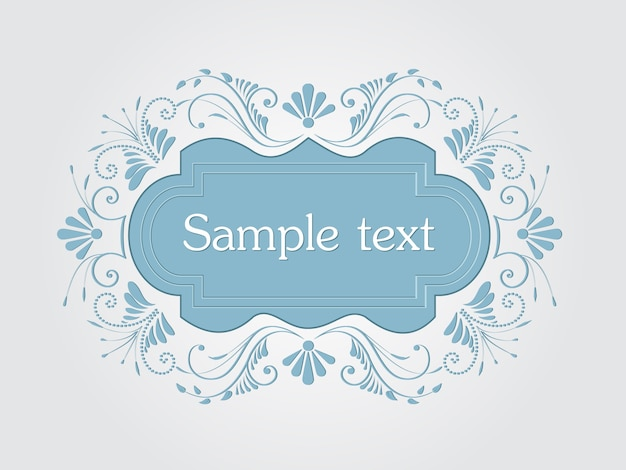 Векторные приглашения, открытки или свадебные карты с элегантными цветочными элементами. арабеский стиль. элегантные цветочные абстрактные украшения. элемент дизайна. векторная vintage frame