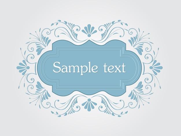 Vector invitation, cards or wedding card with elegant floral elements. arabesque style design. elegant floral abstract ornaments. design element. vector vintage frame
