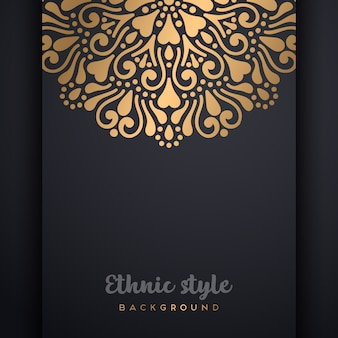 Vector islamic background with copyspace