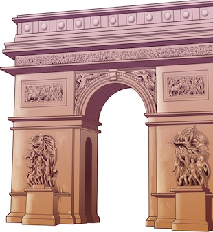 Vector isolated arch of titus in cartoon style.