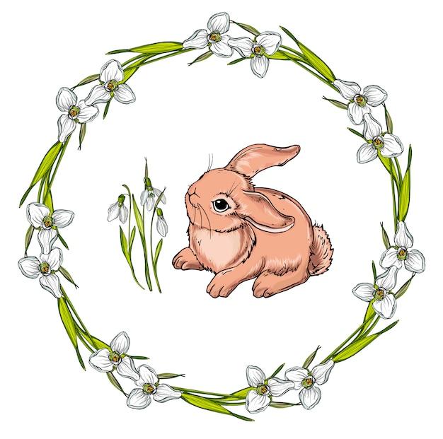 Vector isolated cartoon hare.