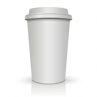 Vector isolated cup of coffee