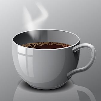 Vector isolated cup of coffee.