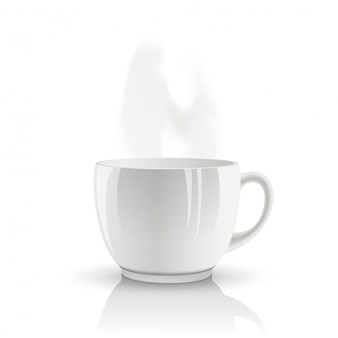 Vector isolated cup of tea.