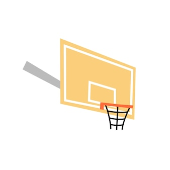 Vector isolated illustration of basketball hoop with backboard icon. equipment for basketball court