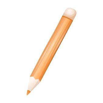 Изолированная иллюстрация вектора грифельного карандаша. реалистичная наклейка для канцелярских принадлежностей для письма, рисования или рисования.